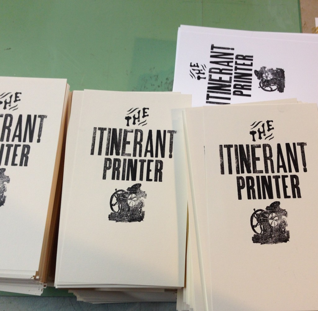 Itinerant Printer Handbill/Postcards