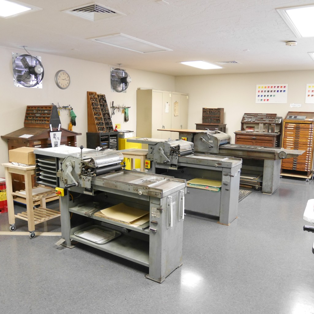 Studio at Ringling College Letterpress and Book Arts Center