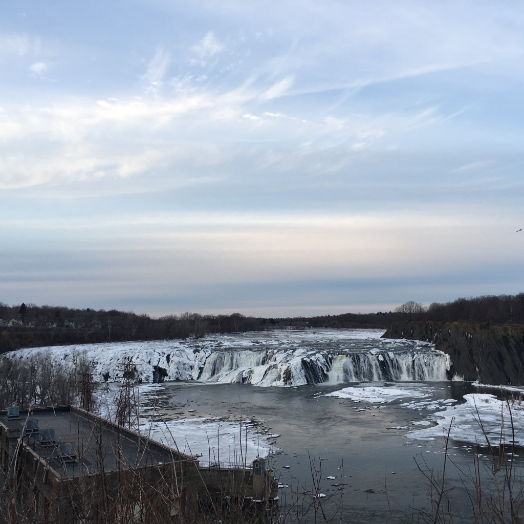 Fall skies over Cohoes Falls - Cohoes, NY