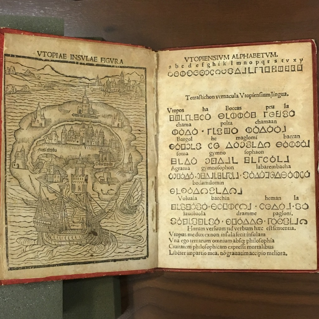 1st edition of Thomas More's 'Utopia' at Georgetown University - Washington, DC