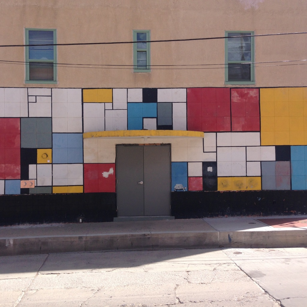 Mondrian-esque mural in Silver City, NM