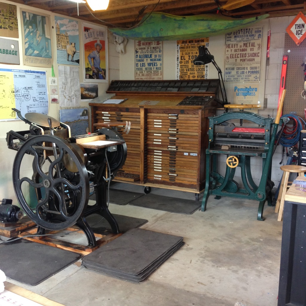 Studio at Penumbra Letterpress - Santa Fe, NM