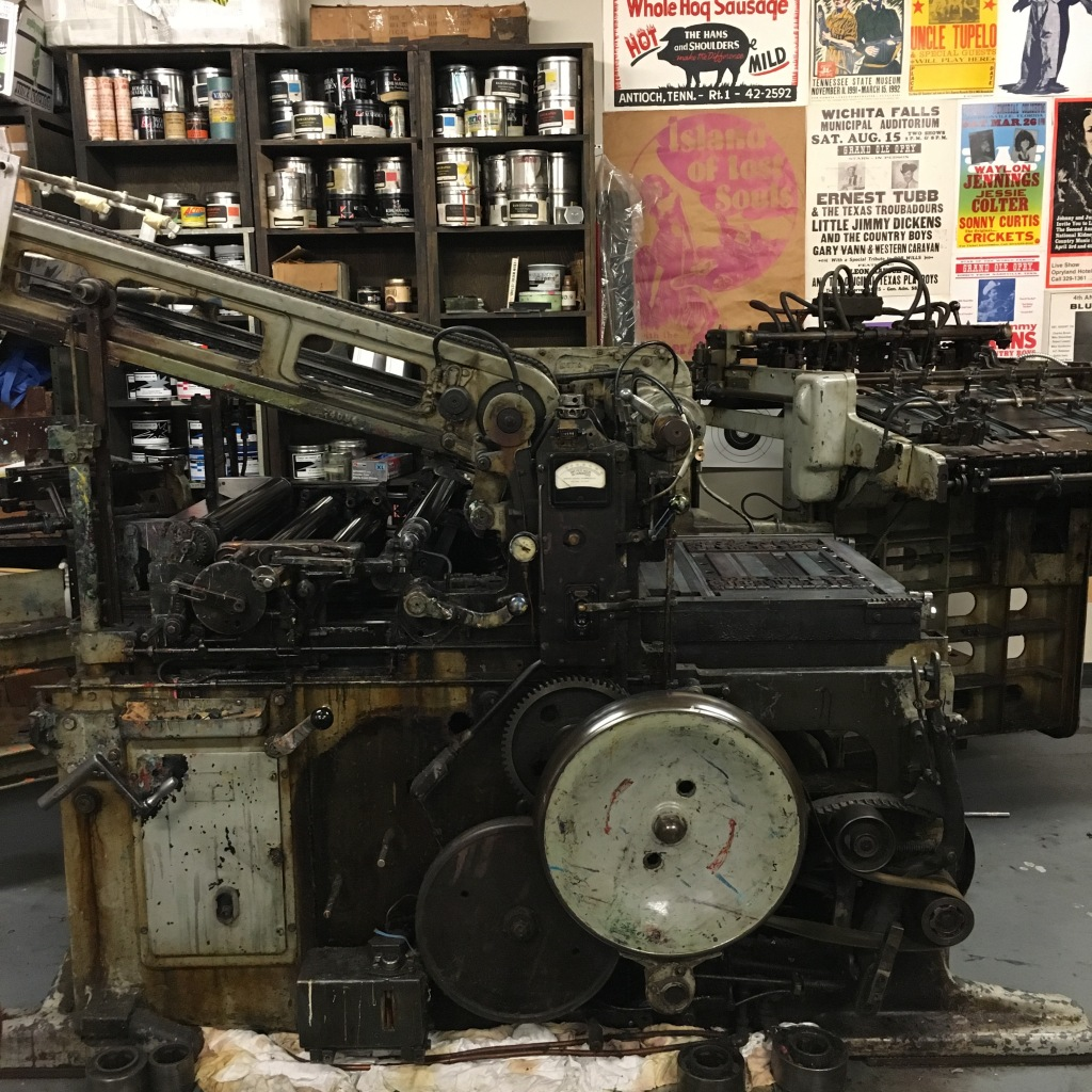 Miehle press at Hatch Show Print - Nashville, TN