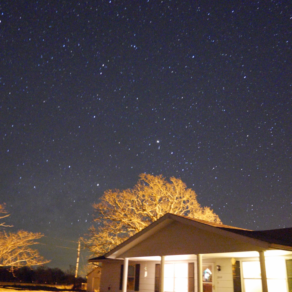 Night shot from Mom's house - Grovespring, MO