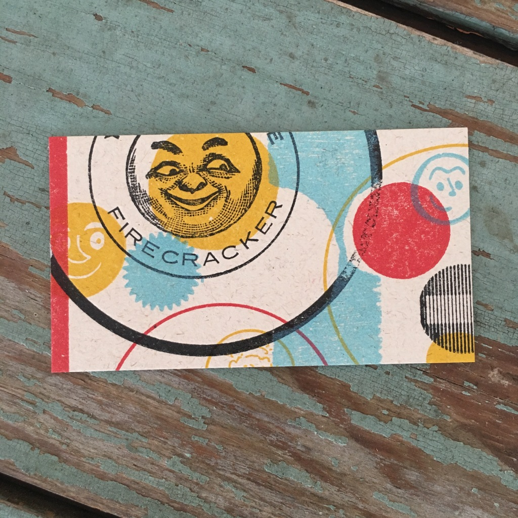 Business card from Firecracker Press - St. Louis, MO