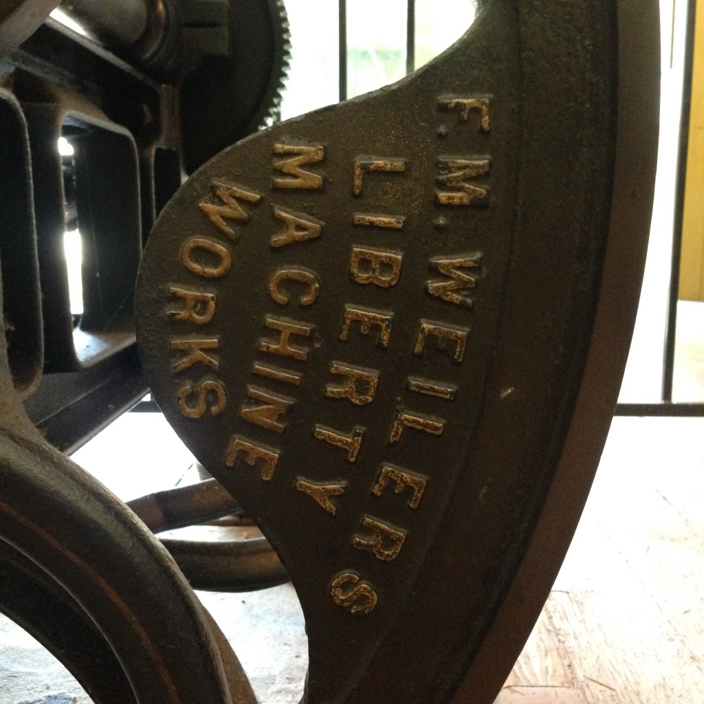 Liberty platen press from 1899 - San Jose Printers' Guild - San Jose, CA