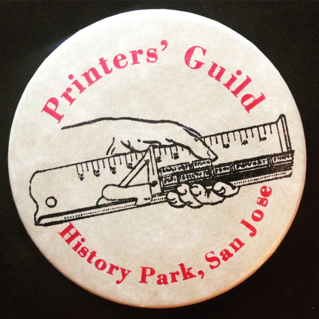 Pin from San Jose Printers' Guild - San Jose, CA