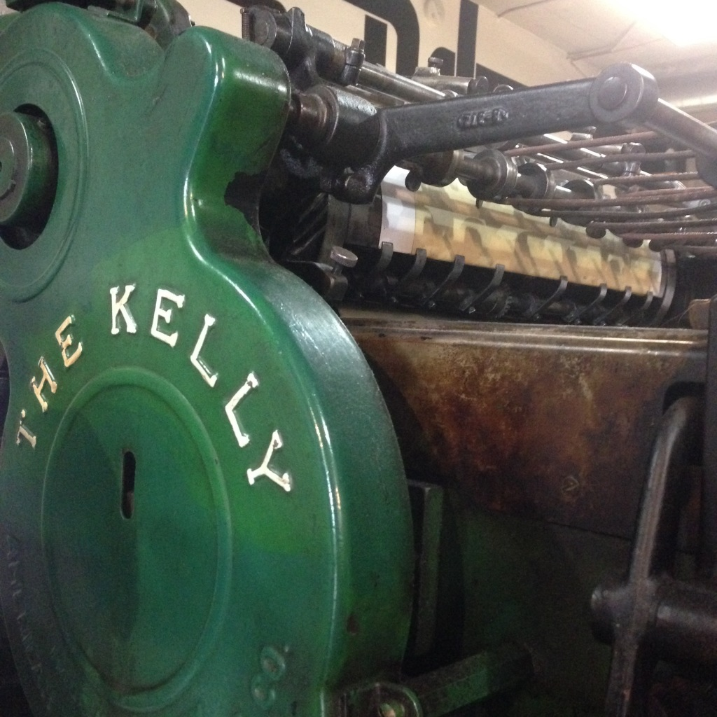 Kelly cylinder press at Pike St. Press - Seattle, WA