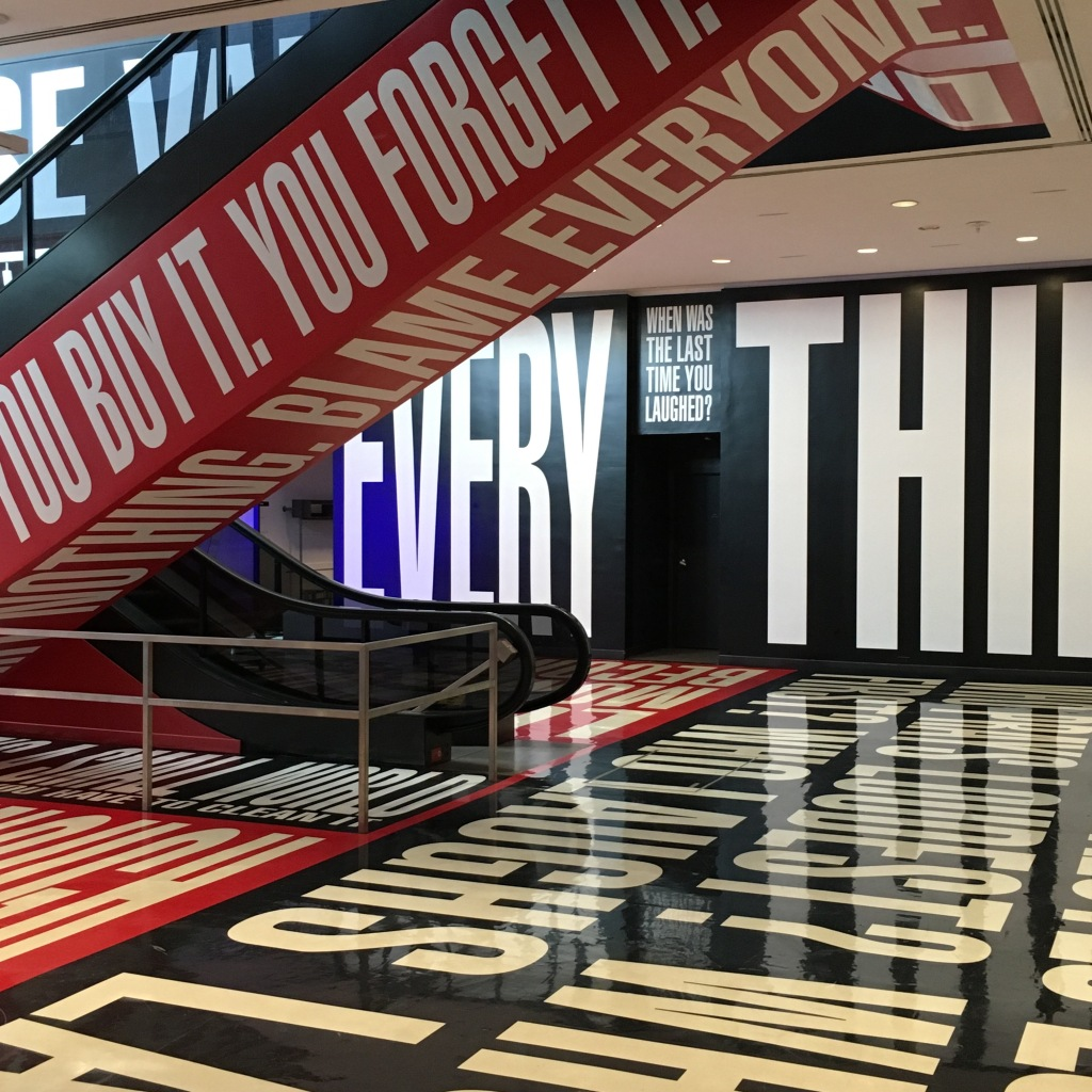 Barbara Kruger at the HIrshhorn Museum - Washington, DC