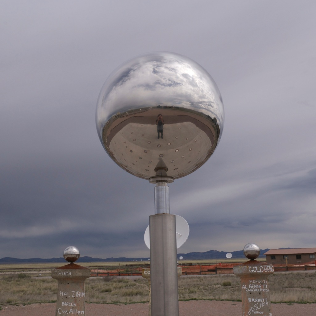 Chrome sphere from the Very Large Array - Socorro, NM