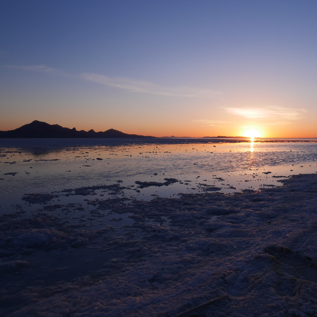 Sunrise at the Bonneville Salt Flats - Tooele County, UT