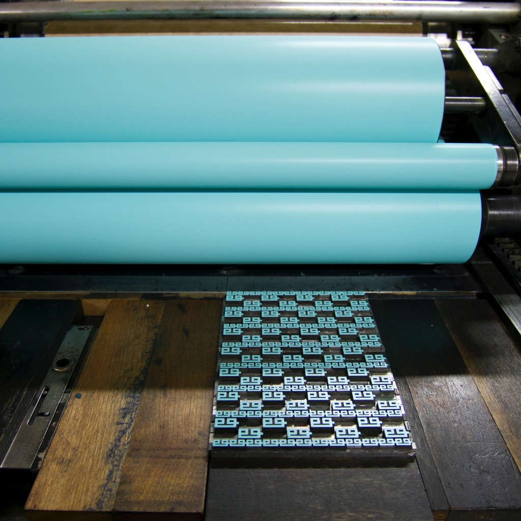 Grecian border on the Vandercook 219AB at Black Rock Press - Reno, NV