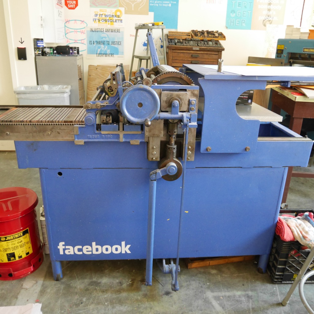 Challenge proofing press at Facebook Analog Research Laboratory - Menlo Park, CA