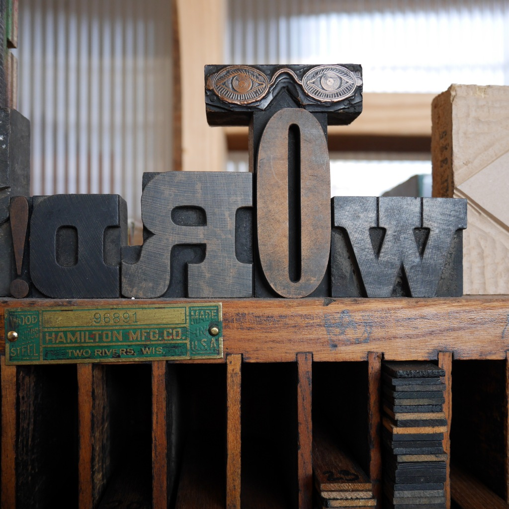 Wood type at Pope Press - Olympia, WA