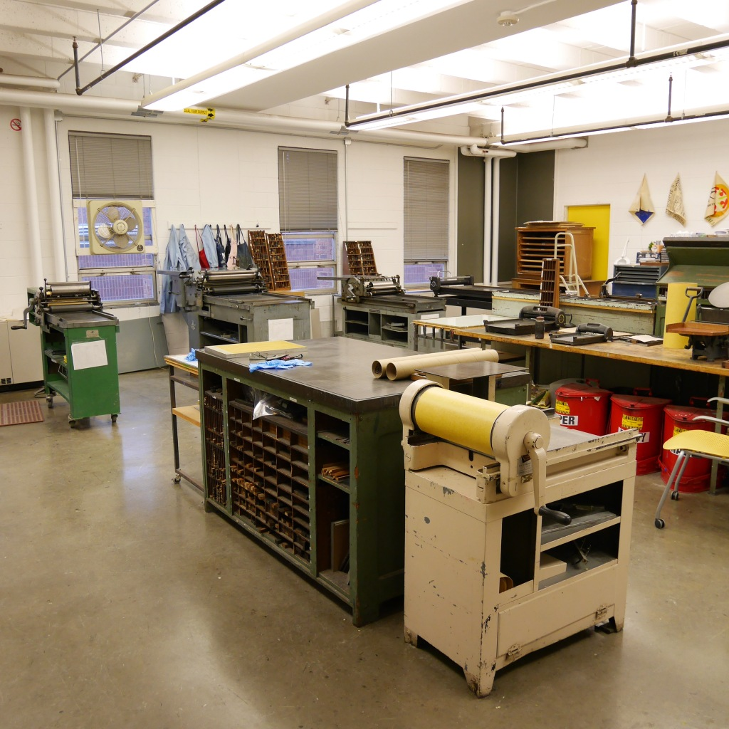 Studio at Bowe House Print Shop at VCU - Richmond, VA