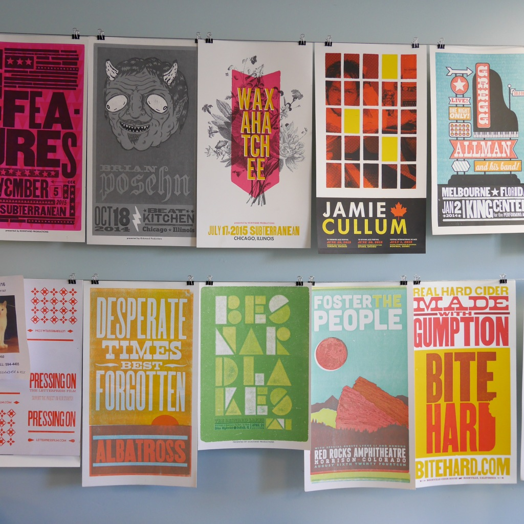 Posters from Brad Vetter's studio - Louisville, KY