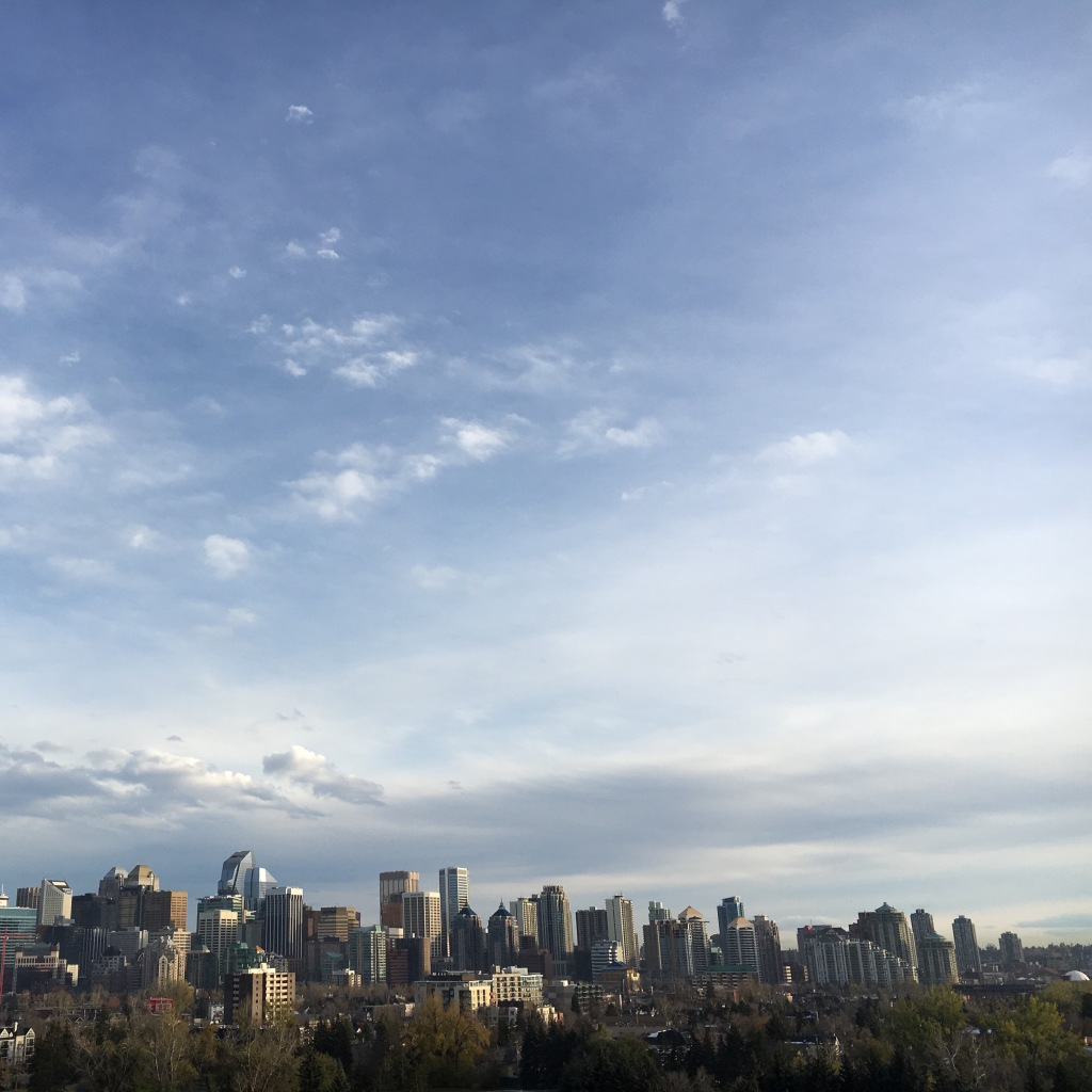 View of the skyline - Calgary, AB, Canada