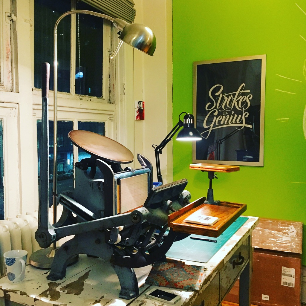 Another studio view from Kidd Letterpress - Calgary, AB, Canada