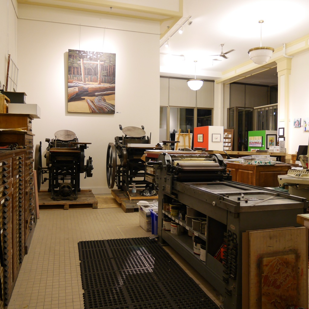 Studio at Clawhammer Press - Fernie, BC, Canada