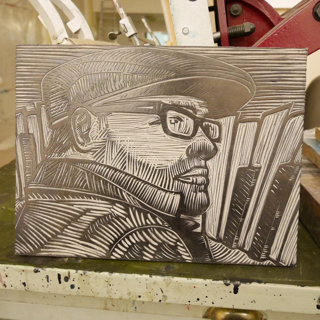 Linocut by Michael Hepher of Clawhammer Press - Fernie, BC, Canada